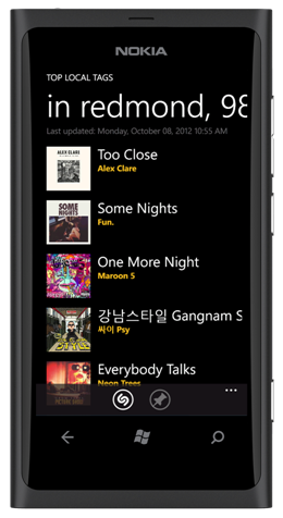 Shazam Rolls Out Free Local Tagging To Windows Phones
