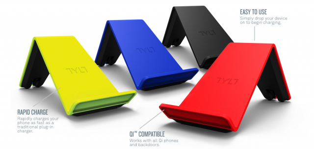 4 Qi-standard chargers by Tylt
