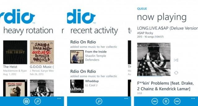 Rdio Screenshots