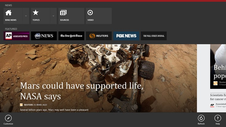 Microsoft ad... Bing News