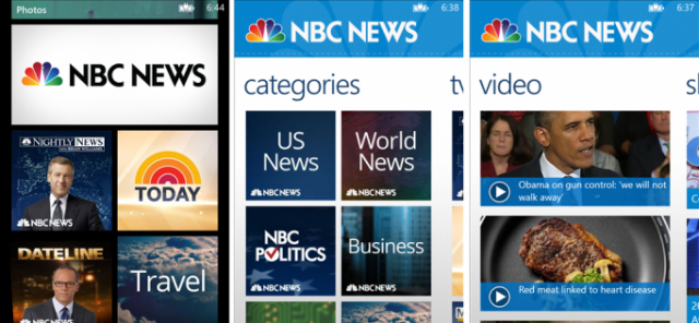 NBC News for Windows Phone SC