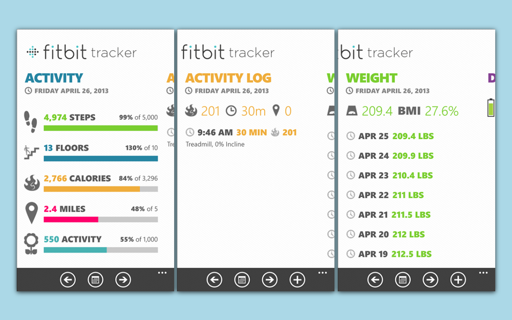 Fitbit Tracker Is A Beautiful New Designed For Windows Phone 8