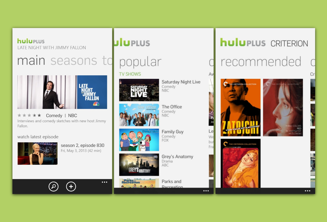 Hulu Plus for Windows Phone 8 coming today [Update: Available now ...