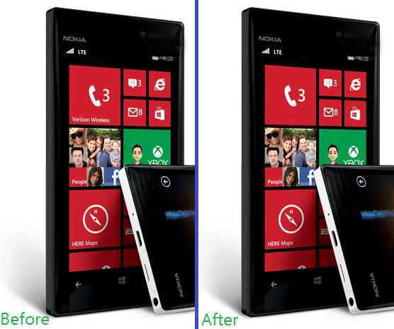 verizon nokia lumia 928 leak render before and after