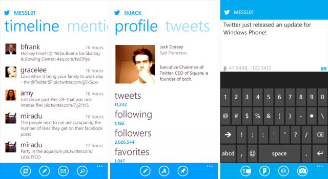 Twitter for Windows Phone update makes the app 'feature ...