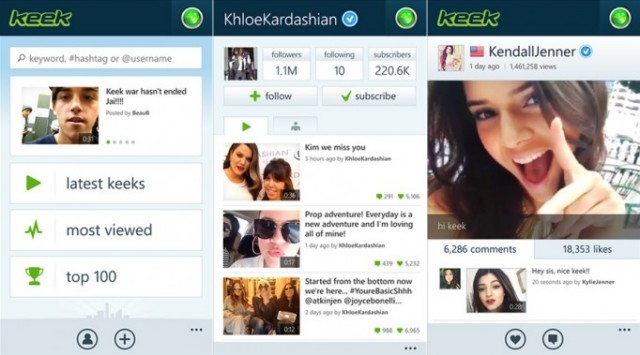 keek screens