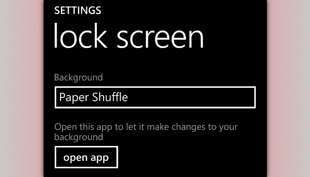 lockscreen settings