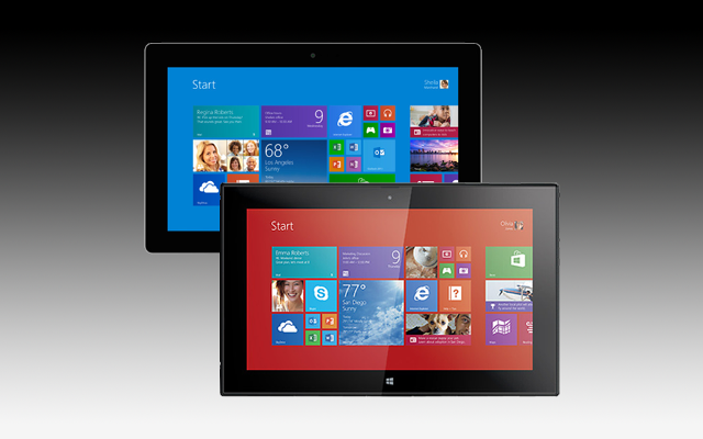 lumia 2520 v Surface 2