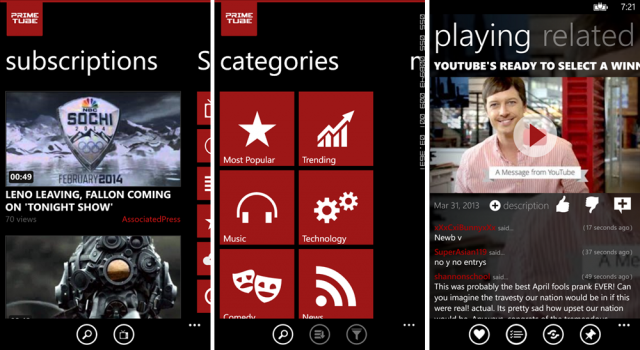 Top 3 YouTube for Windows Phone apps [Video] | WinSource