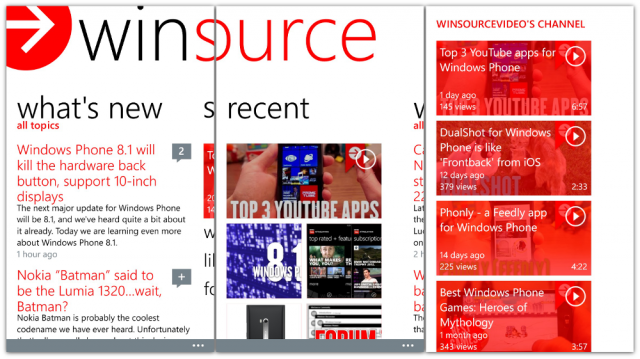winsource screens