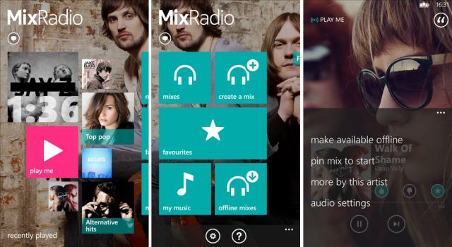 mixradio screens