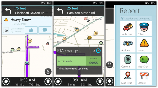 waze screens