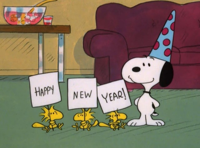 new year snoopy