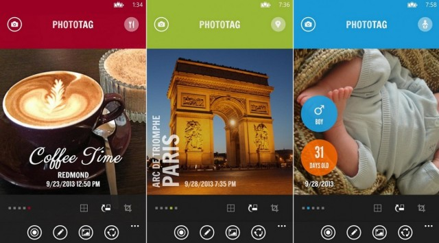 phototag screens