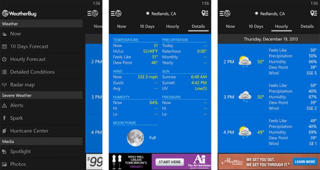 weatherbug screens