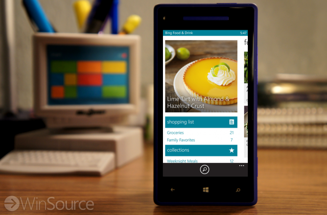 Bing food drink is now served for windows phone winsource microsoft added a few new bing apps with windows 81 one of those was bing food drink the app makes it easy to search for recipes choose a wine for forumfinder Gallery