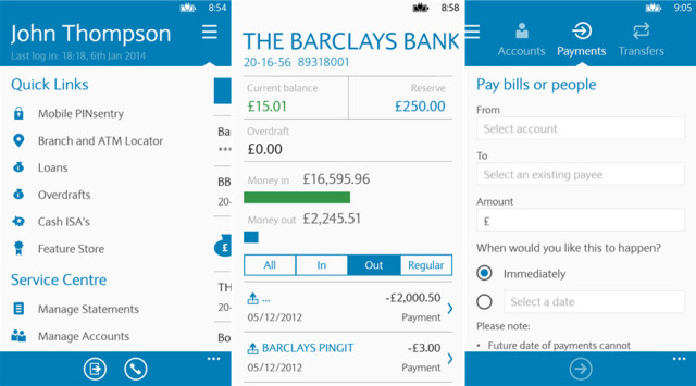 Barclays Mobile banking app comes to Windows Phone