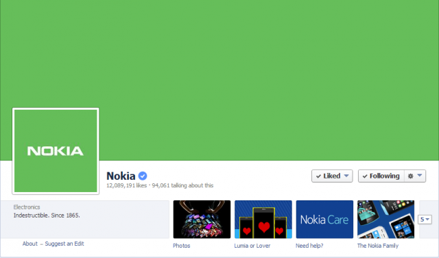 nokia green fb