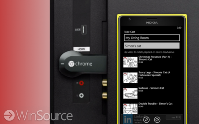 windows phone chromecast